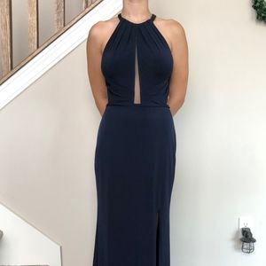 La Femme Full Length Prom Dress